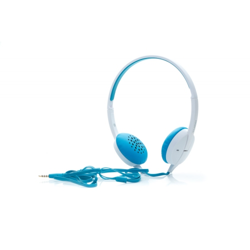 Наушники (гарнитура) HARPER HN-300 Blue Проводные / Накладные с микрофоном / Белый-синий / 20 Гц - 20 кГц / 115 дБ / Двухстороннее / Mini-jack / 3.5 мм гарнитура jbl jble35wht накладные белый проводные