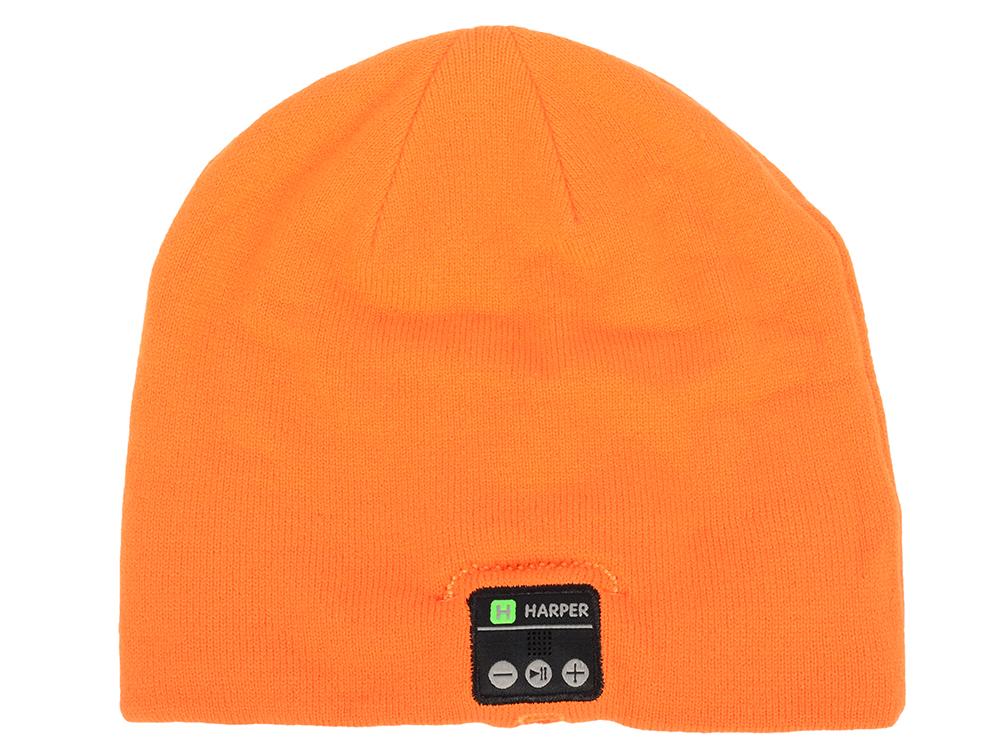 Наушники-шапка HARPER HB-505 Orange Беспроводные / Внутриканальные с микрофоном / Оранжевая / 20 Гц - 20 кГц / Двухстороннее наушники harper hb 303 беспроводные внутриканальные с микрофоном белые 20 гц 20 кгц двухстороннее