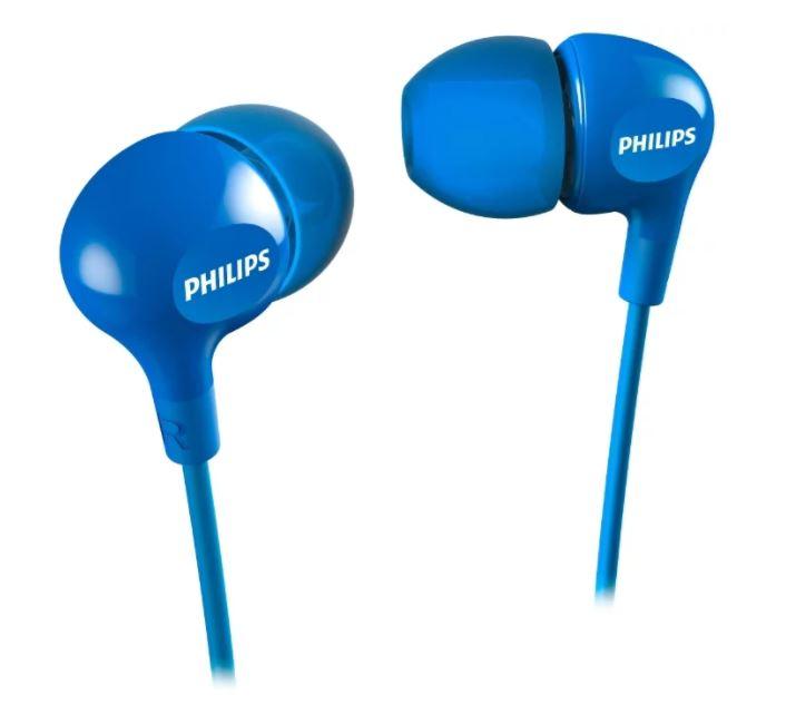 Наушники Philips SHE3550 синий Проводные / Внутриканальные / Синий / 11 Гц - 22 кГц / 105 дБ / Двухстороннее / Mini-jack / 3.5 мм наушники cbr human friends rumba white green проводные внутриканальные белый зеленый 20 гц 20 кгц 95 дб двухстороннее mini jack 3 5 мм