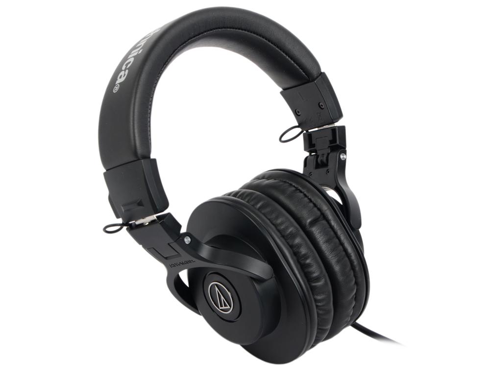 Наушники Audio-Technica ATH-M30X Проводные / Накладные / Черный / 15 Гц - 22 кГц / 96 дБ / Одностороннее / Mini-jack / 3.5 мм наушники audio technica ath ws550is brd 3 5 мм накладные черный красный [10102360]