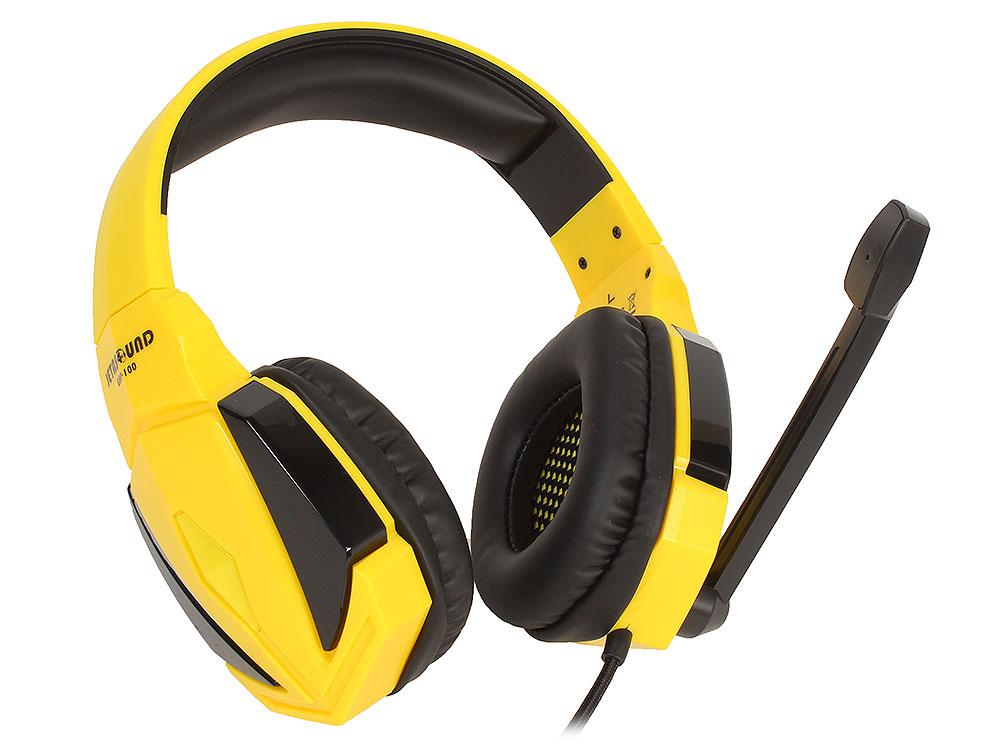 Игровая стереогарнитура Jet.A GHP-100 чёрно-жёлтая Проводные / Полноразмерные с микрофоном / Желтый / 20 Гц - 20 кГц / 114 дБ / Одностороннее / Mini-jack / 3.5 мм наушники jbl e65bt white беспроводные проводные полноразмерные с микрофоном белый 20 гц 20 кгц одностороннее до 5 ч bluetooth mini jack 3 5 мм