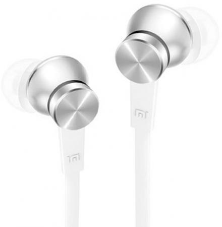 Наушники (гарнитура) Xiaomi Mi In-Ear Headphones Basic Silver (HSEJ03JY) Проводные / Внутриканальные с микрофоном / Серебристый / 20 Гц - 20 кГц / 93 дБ / Двухстороннее / Mini-jack / 3.5 мм