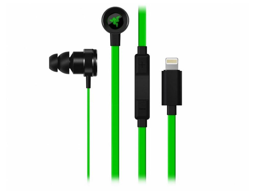 Гарнитура Razer Hammerhead for iOS Black/Green Проводные / Внутриканальные с микрофоном / 20 - 20000 Гц / 102 дБ / Lightning
