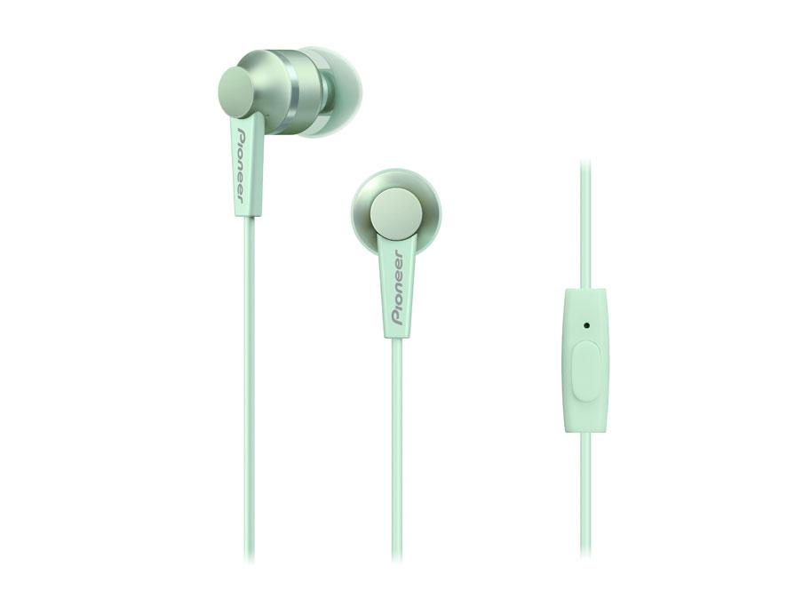 цена на Наушники (гарнитура) Pioneer SE-C3T-GR Green Проводные / Внутриканальные с микрофоном / Зеленый / 8 Гц - 22 кГц / 100 дБ / Двухстороннее / Mini-jack / 3.5 мм