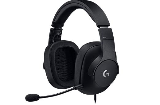 Гарнитура Logitech Gaming Headset PRO (981-000721) Проводные / Накладные с микрофоном / Черный / 20 Гц - 20 кГц / 107 дБ / Одностороннее / Mini-jack / 3.5 мм игровая гарнитура проводная logitech g pro черный 981 000721