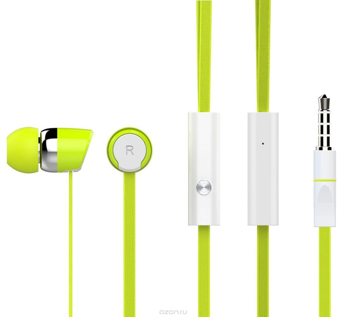Гарнитура HARPER KIDS HV-104 Green Проводные / Внутриканальные с микрофоном / 20 - 20000 Гц / 100 дБ / Двустороннее / miniJack 3.5 мм гарнитура