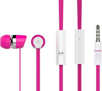 Наушники HARPER KIDS HV-104 / Проводные / Вставные с микрофоном / Розовый / 20 Гц - 20 кГц / Двухстороннее / Mini-jack / 3.5 мм футболка с полной запечаткой для мальчиков printio французский бульдог