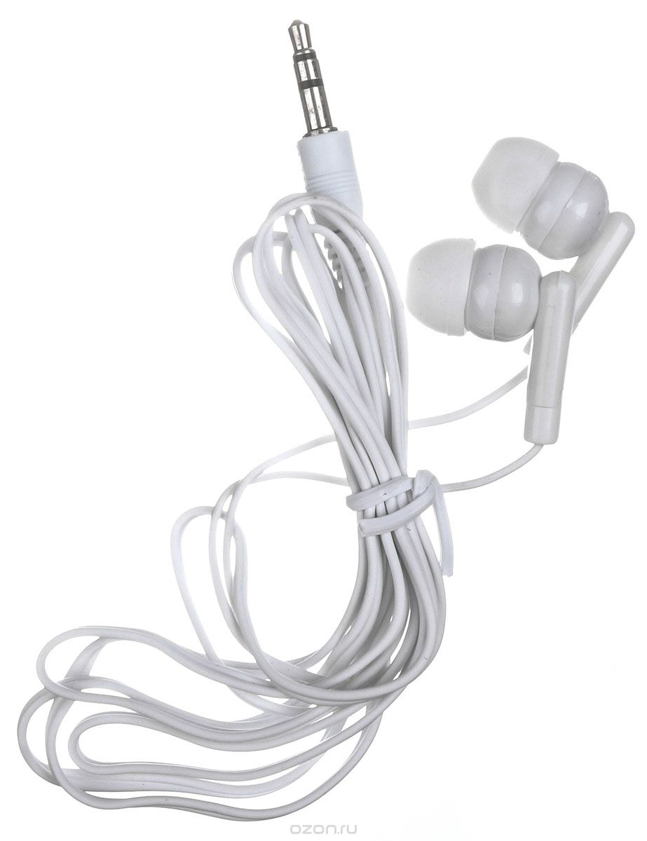 Наушники OLTO VS-840 / Проводные / Внутриканальные с микрофоном / Белые / 20 Гц - 20 кГц / Двухстороннее / Mini-jack / 3.5 мм наушники mdrzx110apw ce7 белые