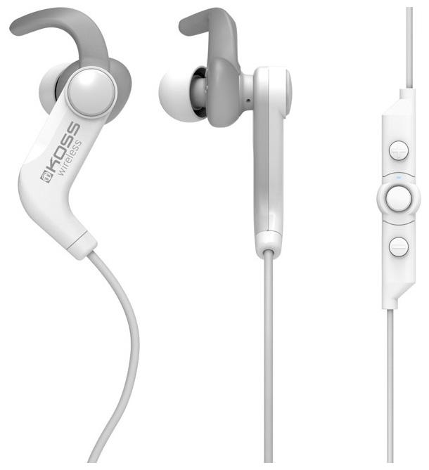 Наушники KOSS BT190iB white,вставные,спорт (Bluetooth, с микрофоном, 4 часа)
