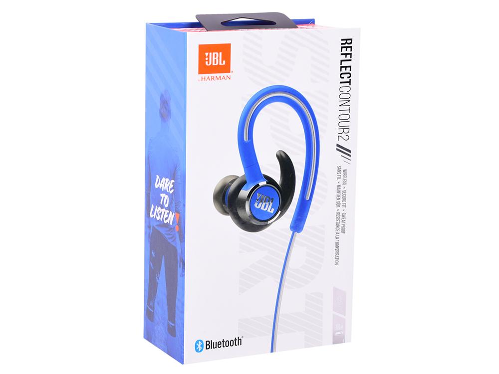 цена на Наушники JBL Reflect Contour 2 Blue Беспроводные / Внутриканальные с микрофоном / 10 - 22000 Гц / 100 дБ / BlueTooth / microUSB