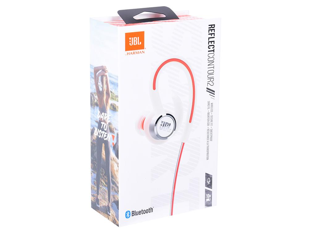 Наушники JBL Reflect Contour 2 White Беспроводные / Внутриканальные с микрофоном / 10 - 22000 Гц / 100 дБ / BlueTooth / microUSB цена и фото