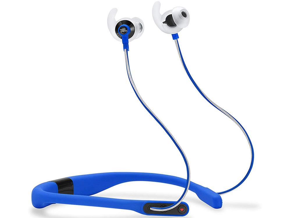 Наушники JBL Наушники беспроводные Synchros Reflect FIT Sport, голубые наушники philips shc1300 беспроводные