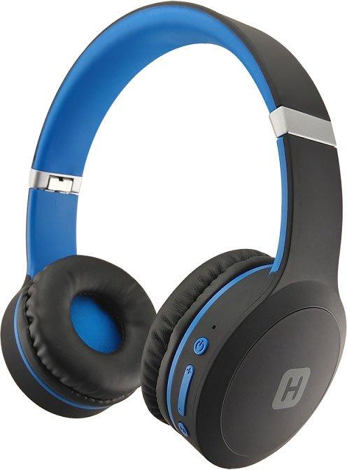 лучшая цена Наушники (гарнитура) HARPER HB-409 Black/Blue Беспроводные / Накладные с микрофоном / Черный-Синий / 20 - 20000 Гц / 114 дБ / BlueTooth / microUSB / miniJack 3.5 мм