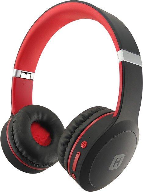 Наушники (гарнитура) HARPER HB-409 Black/Red Беспроводные / Накладные с микрофоном / Черный-Красный / 20 - 20000 Гц / 114 дБ / BlueTooth / microUSB / miniJack 3.5 мм