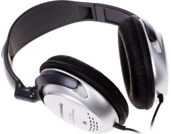 Фото - Наушники Panasonic RP-HT223GU-S Black/Silver Проводные / Полноразмерные без микрофона / 10 - 27000 Гц / 98 дБ / Двустороннее / miniJack 3.5 мм наушники panasonic rp hs34e y yellow проводные вкладыши без микрофона 10 25000 гц 112 дб minijack 3 5 мм