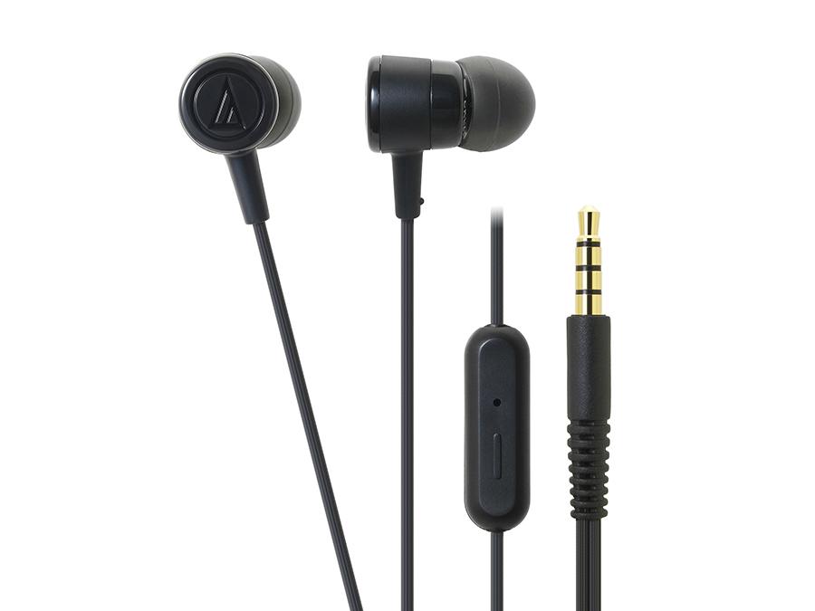 Фото - Наушники (гарнитура) AUDIO-TECHNICA ATH-CKL220iS BK Проводные / Внутриканальные с микрофоном/ Черный / 20 Гц - 23 кГц / 100 дБ / Двухстороннее / Mini-jack / 3.5 мм наушники perfeo gear черный pf ger blk проводные внутриканальные черный 20 гц 20 кгц 100 дб двухстороннее mini jack 3 5 мм