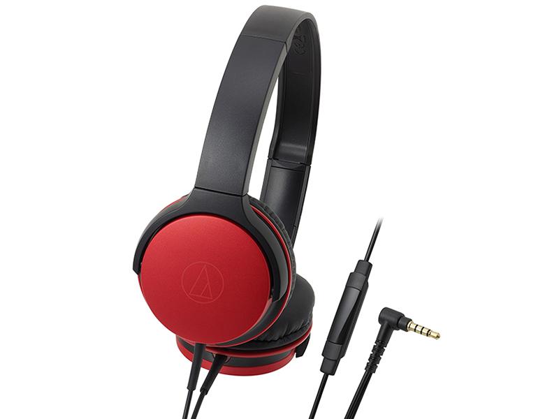 Наушники (гарнитура) AUDIO-TECHNICA ATH-AR1ISRD Проводные / Накладные с микрофоном / Красный / 5 Гц - 30 кГц / 103 дБ / Двухстороннее / Mini-jack / 3.5 мм