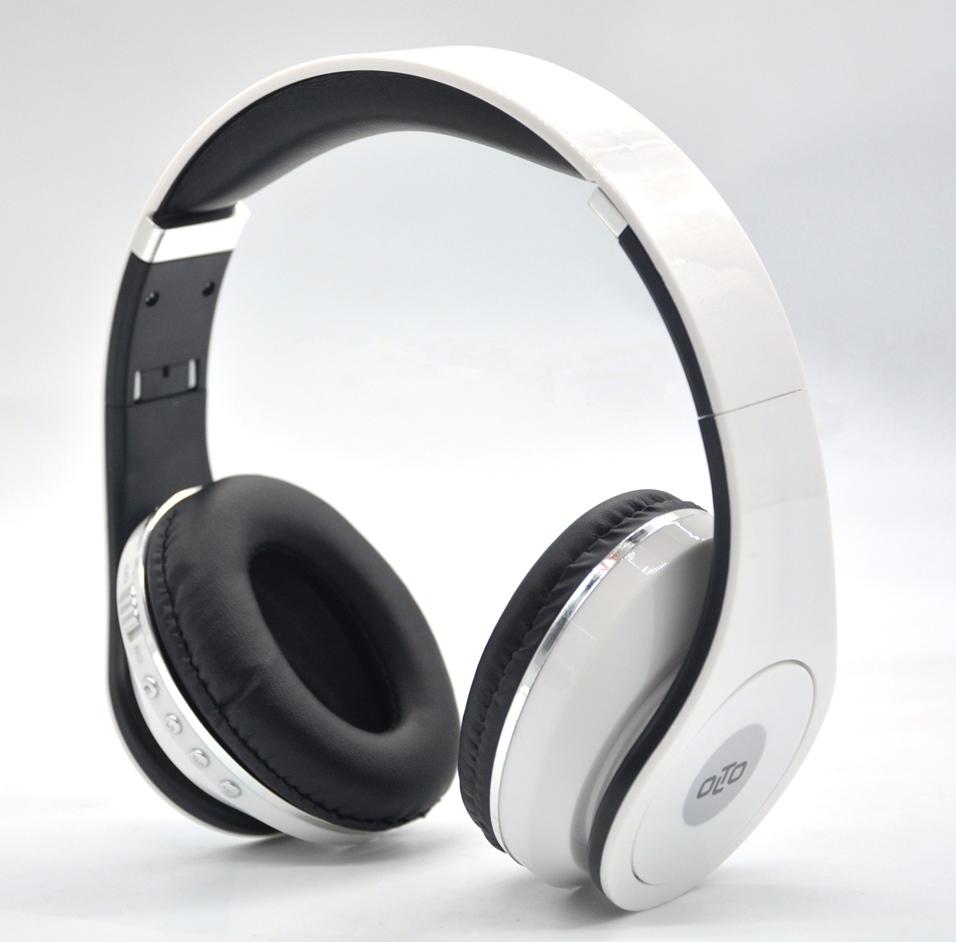 Наушники Bluetooth OLTO HBO-155 / Беспроводные / Накладные с микрофоном / Белые / 20 Гц - 20 кГц / 114 дБ / Bluetooth наушники mdrzx110apw ce7 белые