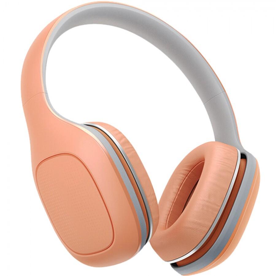 Наушники (гарнитура) Xiaomi Mi Headphones Comfort Orange Беспроводные, проводные / Накладные с микрофоном / Красный / 20 Гц - 40 кГц / 107 дБ / Одностороннее / Bluetooth, Mini-jack / 3.5 мм гарнитура oklick hs g300 проводные полноразмерные с микрофоном черный красный 20 гц 20 кгц 56 дб одностороннее mini jack 3 5 мм