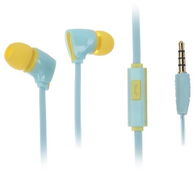 Наушники (Гарнитура) HARPER KIDS H-52 Blue Проводные / Внутриканальные с микрофоном / Голубые / 20 Гц - 20 кГц / Двухстороннее / Mini-jack / 3.5 мм гарнитура harper kids h 52 white
