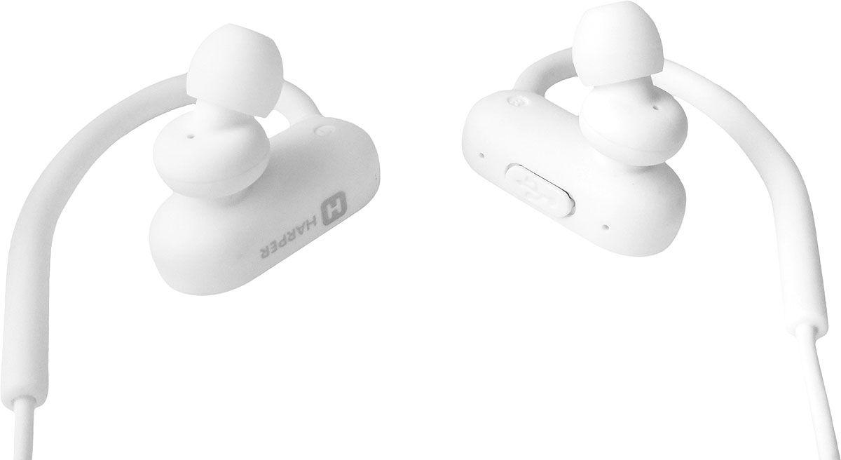 Наушники HARPER HB-302 / Беспроводные / Внутриканальные с микрофоном / Белый / 20 Гц - 20 кГц / Двухстороннее / Bluetooth наушники harper hb 303 беспроводные внутриканальные с микрофоном белые 20 гц 20 кгц двухстороннее