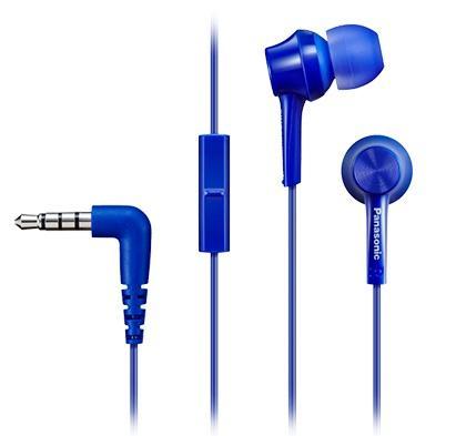 Наушники Panasonic/ внутриканальные 10-24000Гц 1.2м 3.5мм 98дБ микрофон синие микрофон xlr panasonic ag mc200g