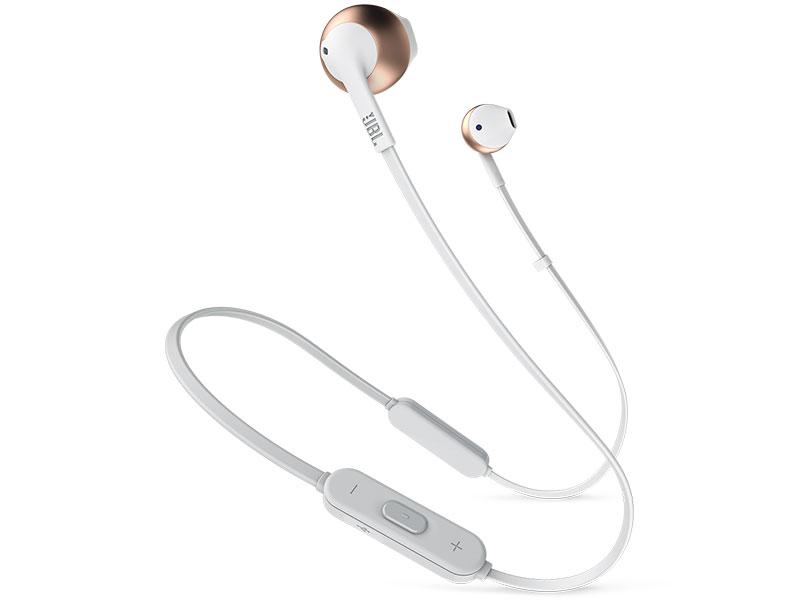 цена на Bluetooth наушники (гарнитура) JBL Tune 205BT Pink/Gold Беспроводные / Вкладыши с микрофоном / 20 - 20000 Гц / 100 дБ / BlueTooth / microUSB