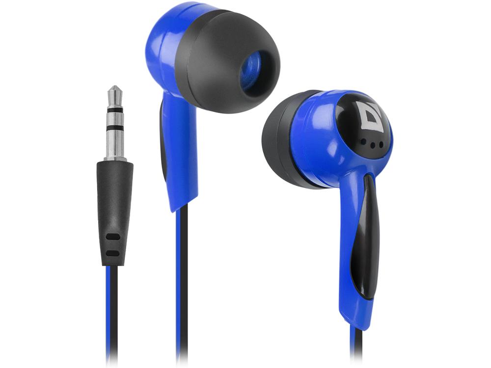 Наушники Defender Basic 604 Black/Blue Проводные / Внутриканальные без микрофона / 15 – 20 000 Гц / 85 дБ / Двустороннее / miniJack 3.5 мм basic 604 blue black