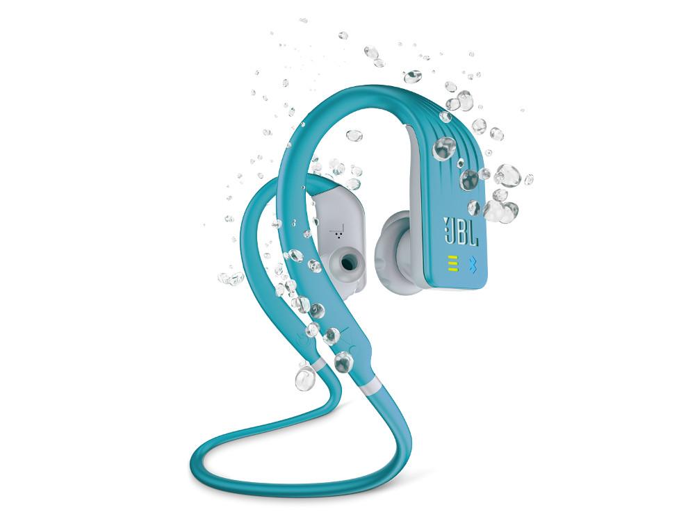 Наушники (гарнитура) JBL Endurance DIVE (JBLENDURDIVETEL) Blue Беспроводные / Внутриканальные с микрофоном / Голубой / 20 Гц - 20 кГц / 102 дБ / Bluetooth, Micro-USB беспроводные наушники jbl bluetooth e25bt blue