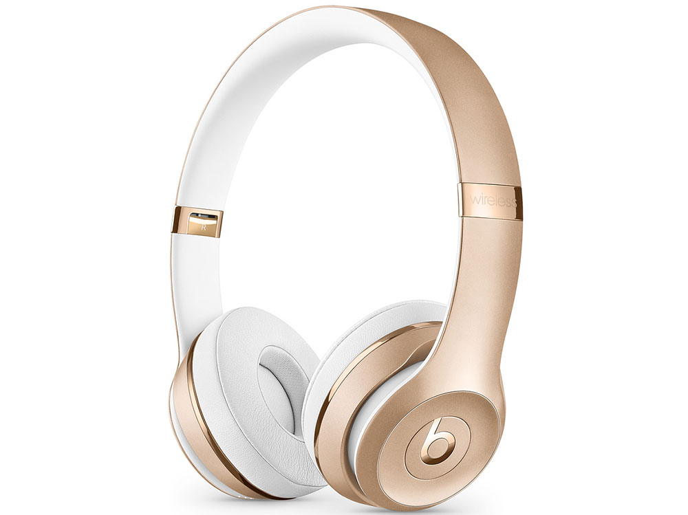 Наушники (гарнитура) Beats Solo3 MNER2EE/A Gold Беспроводные, проводные / Накладные с микрофоном / Золотистый / 20 Гц - 31 кГц / 110 дБ / Одностороннее / Bluetooth, microUSB / miniJack 3.5 мм цена