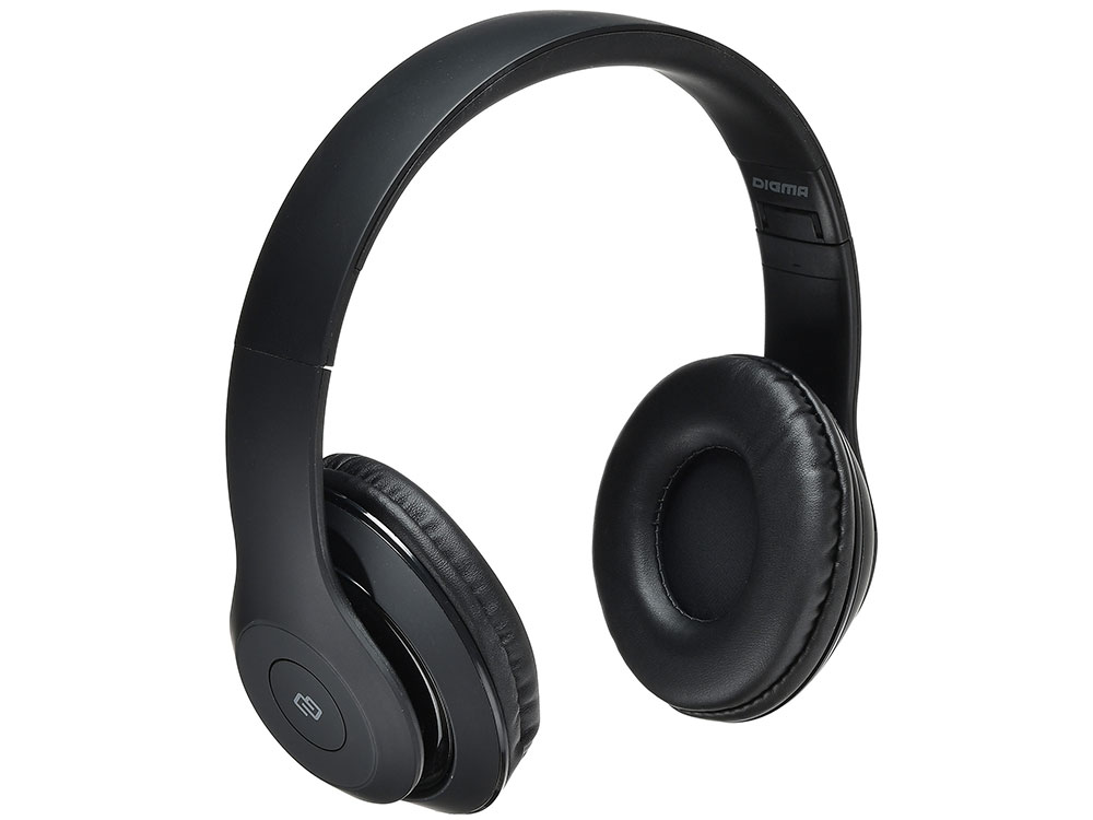 Наушники (гарнитура) Digma BT-14 Black Беспроводные, проводные / Накладные с микрофоном / Черный / 20 Гц - 20 кГц / 102 дБ / Одностороннее / до 6 ч / Bluetooth, Mini-jack / 3.5 мм