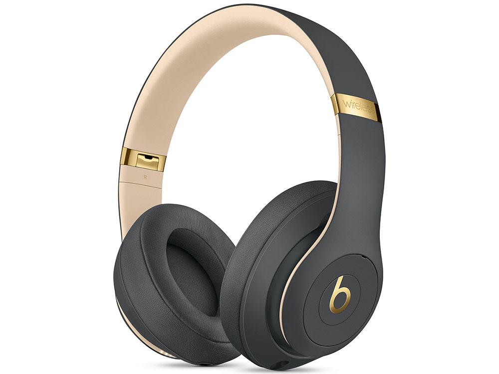 Наушники (гарнитура) Beats Studio3 Wireless MQUF2EE/A Dark Grey Беспроводные, проводные / Полноразмерные с микрофоном / Серый / Одностороннее / Bluetooth, Mini-jack / 3.5 мм