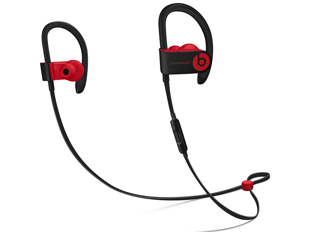 Наушники (гарнитура) Apple Beats Powerbeats 3 WL ML8W2EE/A Black/Red Беспроводные / Внутриканальные с микрофоном / до 12 ч / Bluetooth, Micro-USB беспроводные наушники mettle s2 red