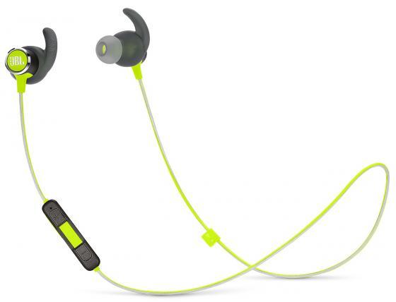 купить Наушники (гарнитура) JBL Reflect mini 2 Green Беспроводные / Внутриканальные с микрофоном / Зеленый / 10 Гц - 22 кГц / до 10 ч / Bluetooth, Micro-USB онлайн