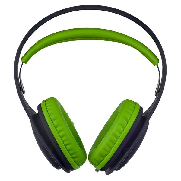 Наушники Perfeo ONTO Black/Green Проводные / Полноразмерные без микрофона / 20 - 20 000 Гц / 105 дБ / Одностороннее / miniJack 3.5 мм