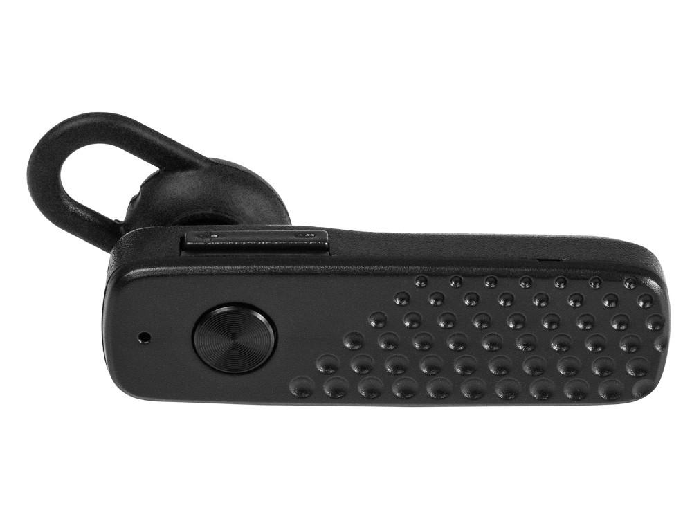 Гарнитура Bluetooth HARPER HBT-1703 / Черная / Bluetooth 4.2 / MicroUSB гарнитура беспроводная плюс автомобильная зарядка harper hbt 1723 black