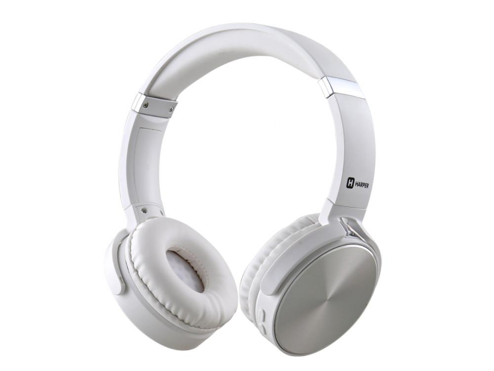 купить Наушники HARPER HB-217 White Беспроводные / Накладные с микрофоном / 20 - 20 000 Гц / -105 дБ / Одностороннее / BlueTooth / microUSB / miniJack 3.5 мм по цене 1499 рублей