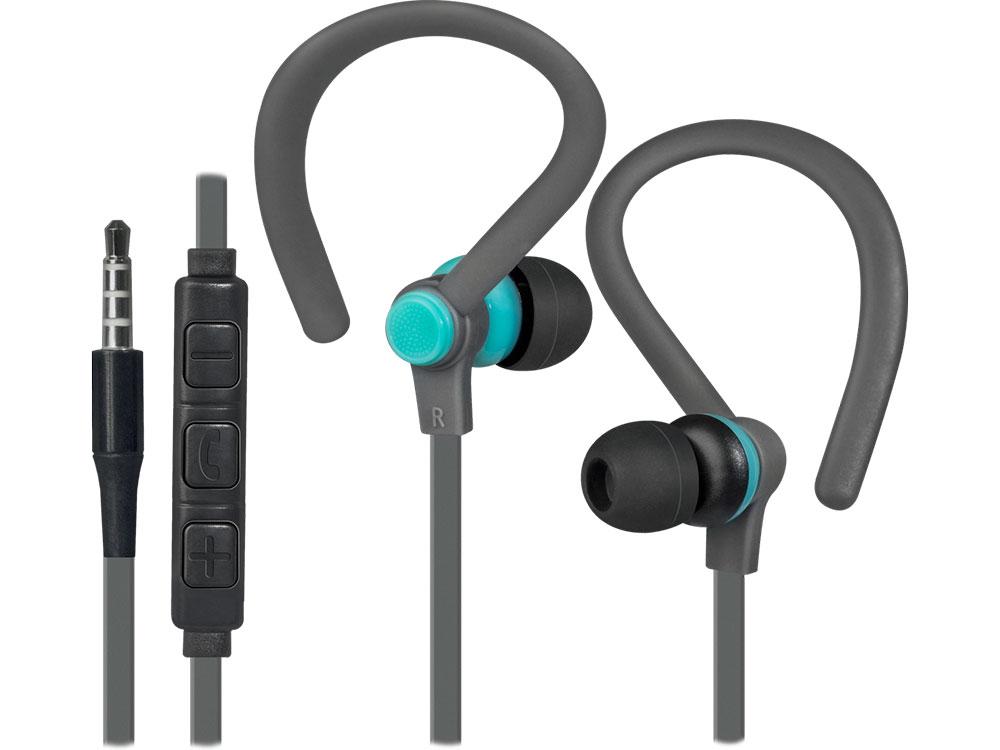 Наушники (гарнитура) Defender OutFit W760 Gray Blue Проводные / Внутриканальные с микрофоном / Серый-голубой / 20 Гц - 20 кГц / 94 дБ / Двухстороннее / Mini-jack / 3.5 мм