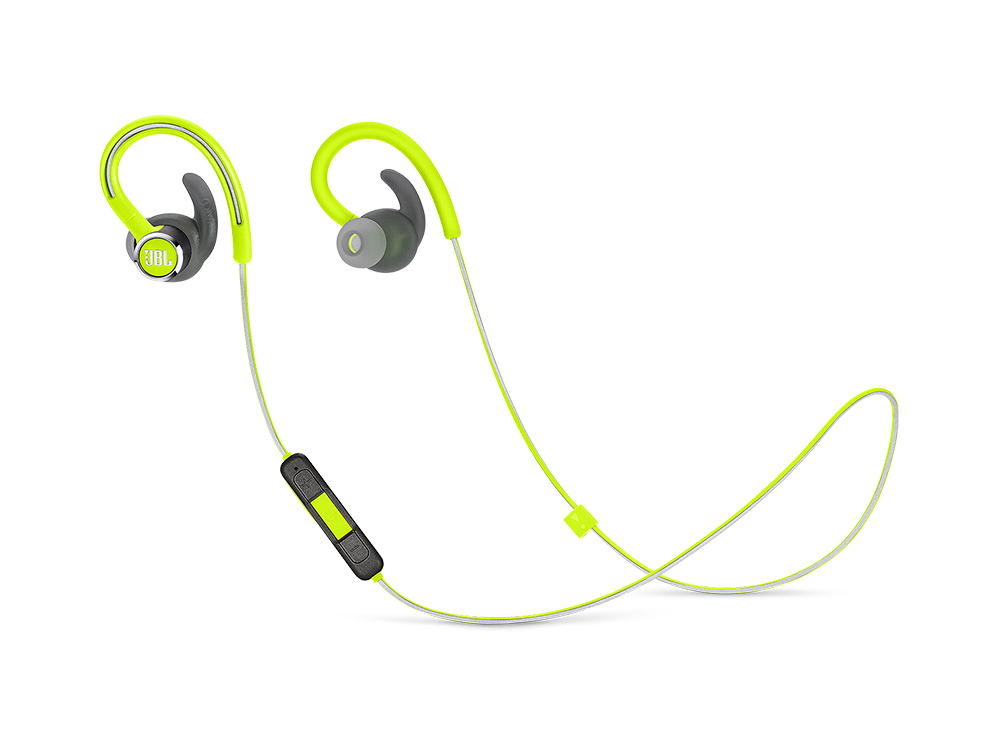 цена на Наушники JBL Reflect Contour 2 Green Беспроводные / Внутриканальные с микрофоном / 10 - 22000 Гц / 100 дБ / BlueTooth / microUSB