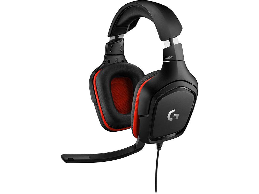 Наушники (гарнитура) G332 Wired Stereo Gaming Headset 981-000757 Проводные / Полноразмерные с микрофоном / Черный-красный / 20 Гц - 20 кГц / 107 дБ / Одностороннее / Mini-jack 3.5 мм гарнитура oklick hs g300 проводные полноразмерные с микрофоном черный красный 20 гц 20 кгц 56 дб одностороннее mini jack 3 5 мм