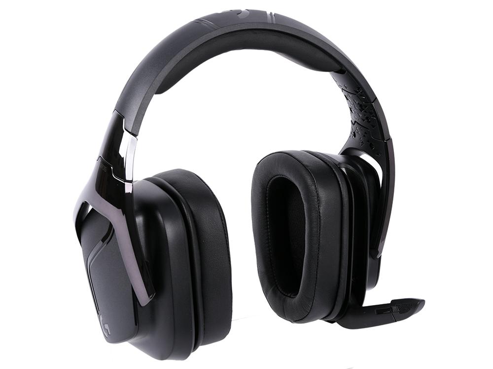 Наушники (Гарнитура) Logitech G935 Black Беспроводные / Полноразмерные с микрофоном / 20 - 20000 Гц / 93 дБ / Одностороннее / Радиоканал / USB