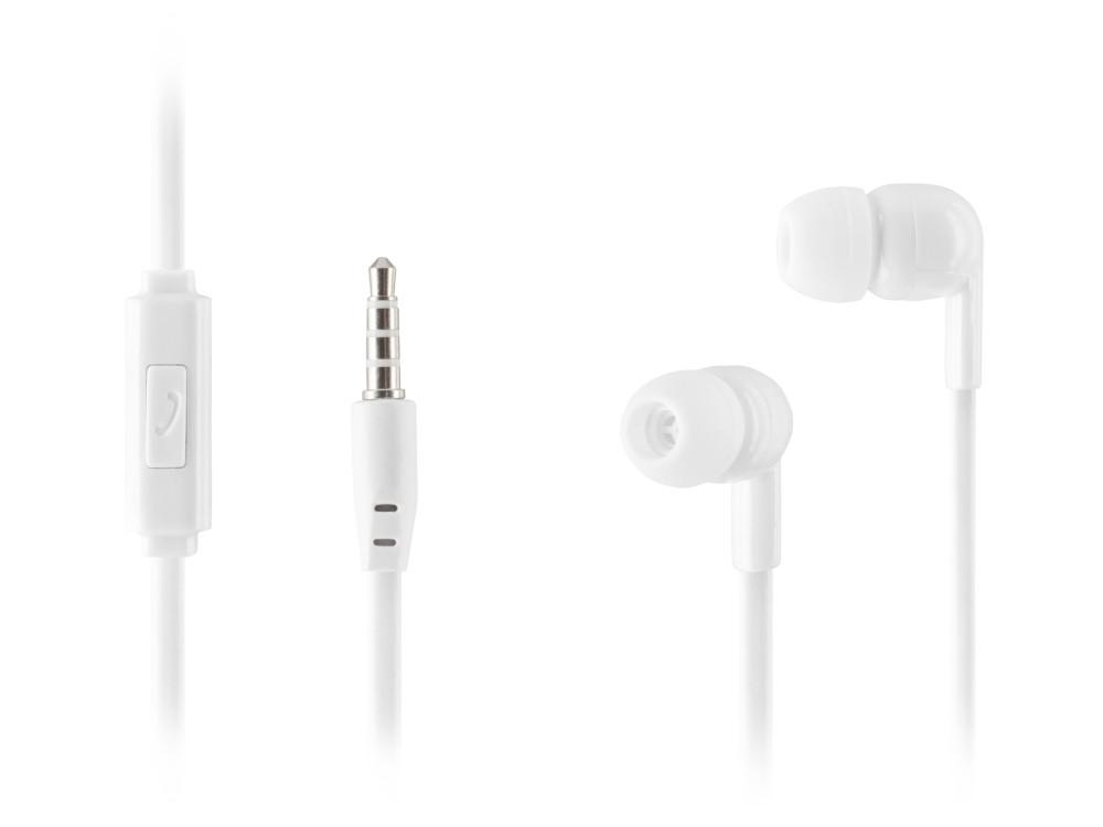 Наушники HARPER HV-106 White Проводные / Внутриканальные с микрофоном / 20 - 20 кГц / 105 дБ / miniJack 3.5 мм