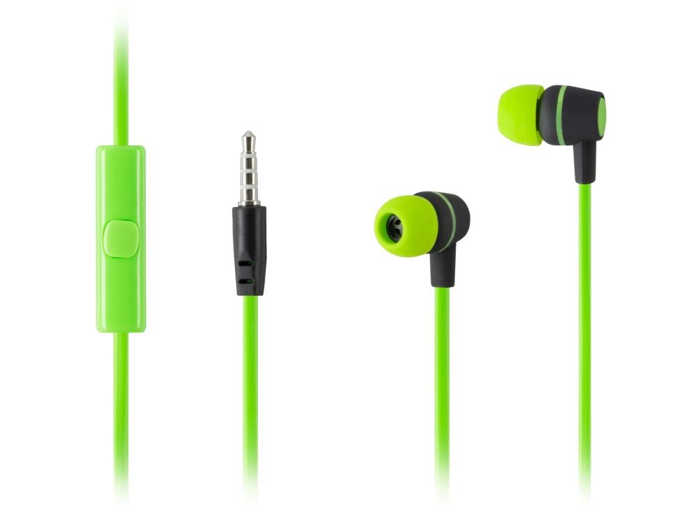 Наушники HARPER HV-107 / Проводные / Внутриканальные с микрофоном / Зеленые / 20 Гц - 20 кГц / Двухстороннее / Mini-jack / 3.5 мм все цены