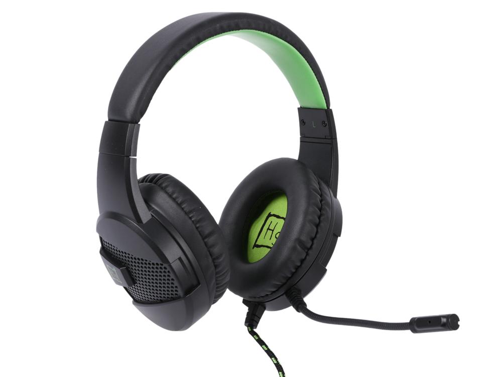Наушники Игровые Harper Gaming Raster GHS-X15 / Проводные / Накладные с микрофоном / Черно-Зеленый / 20Гц-20кГц / Двухстороннее / Mini-jack / 3.5 мм цены онлайн