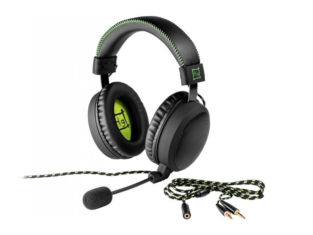 Наушники Игровые Harper Gaming Master GHS-X20 / Проводные / Накладные с микрофоном / Черно-Зеленые / 20Гц-20кГц / Двухстороннее / Mini-jack / 3.5 мм цена 2017