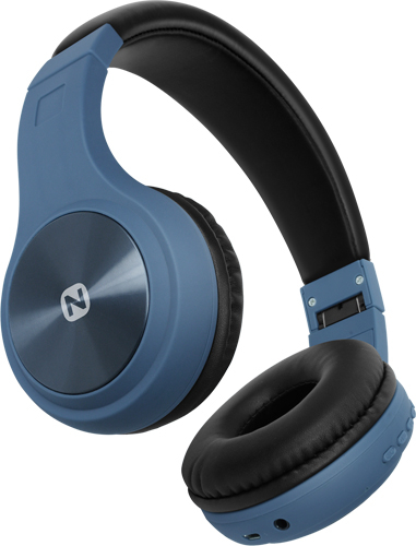 Беспроводные наушники Nobby с MP3 плеером, Comfort B-230, NBC-BH-42-08, BT 4.2, пластик, синяя сталь Беспроводные, проводные / Накладные с микрофоном