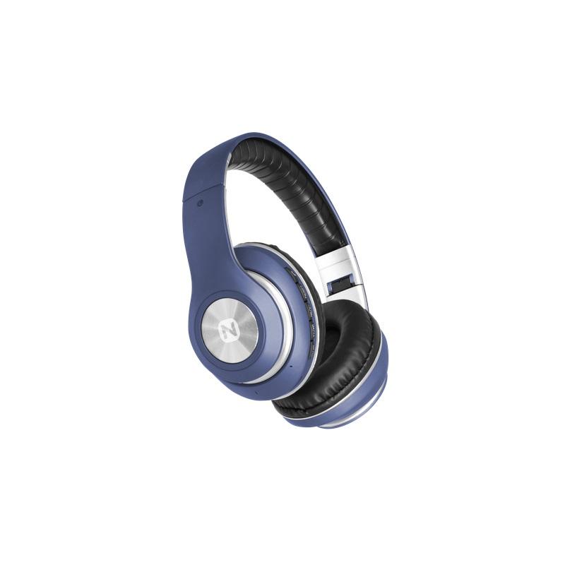 Беспроводная стереогарнитура Nobby Expert L-950, NBE-BH-42-75, BT 4.2, пластик, небесный Беспроводные, проводные / Накладные с микрофоном / Синий / 20 пластик abs небесный