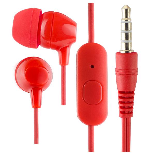Наушники Perfeo VOTE PF_A4620 Red Проводные / Внутриканальные с микрофоном / 20 - 20 000 Гц / 100 дБ / miniJack 3.5 мм цена