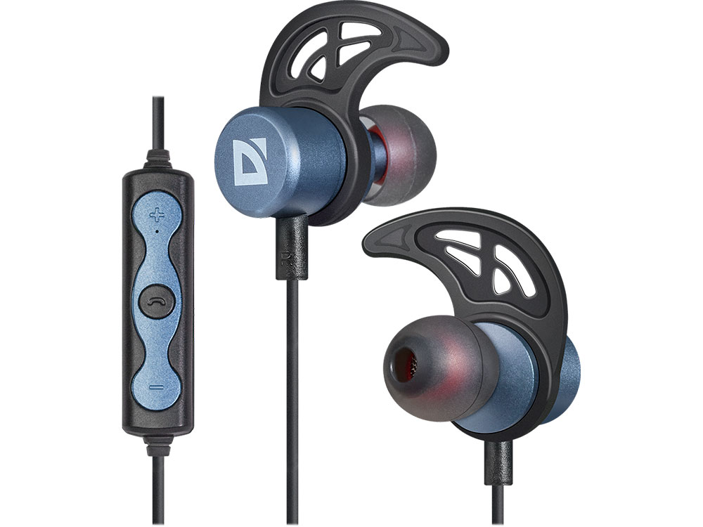 Bluetooth гарнитура Defender FreeMotion B685 Blue Беспроводные / Внутриканальные с микрофоном / 20 — 20 000 Гц / 96 дБ / BlueTooth / microUSB bluetooth гарнитура defender outfit b730 black беспроводные внутриканальные с микрофоном 20 20 000 гц 96 дб bluetooth microusb