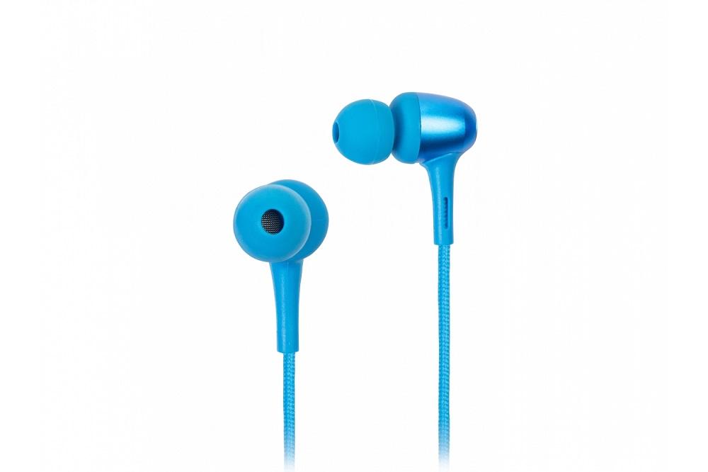 Наушники (гарнитура) Harper HB-306 Blue Беспроводные / Внутриканальные с микрофоном / Синий / 20 Гц - 20 кГц / 89 дБ / до 8 ч / Bluetooth, Micro-USB